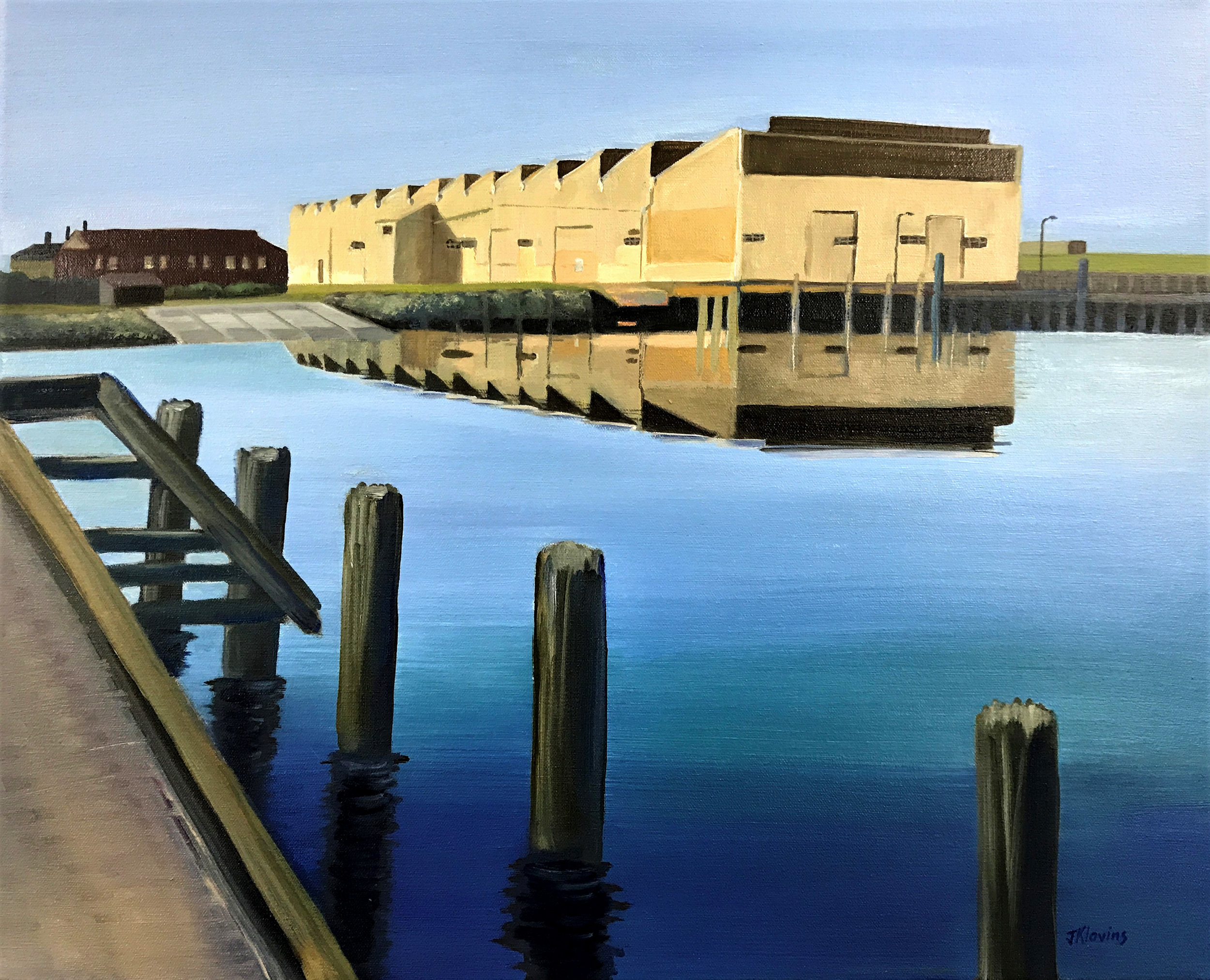 Shed 26 - Port River,  2019  (oil on canvas)