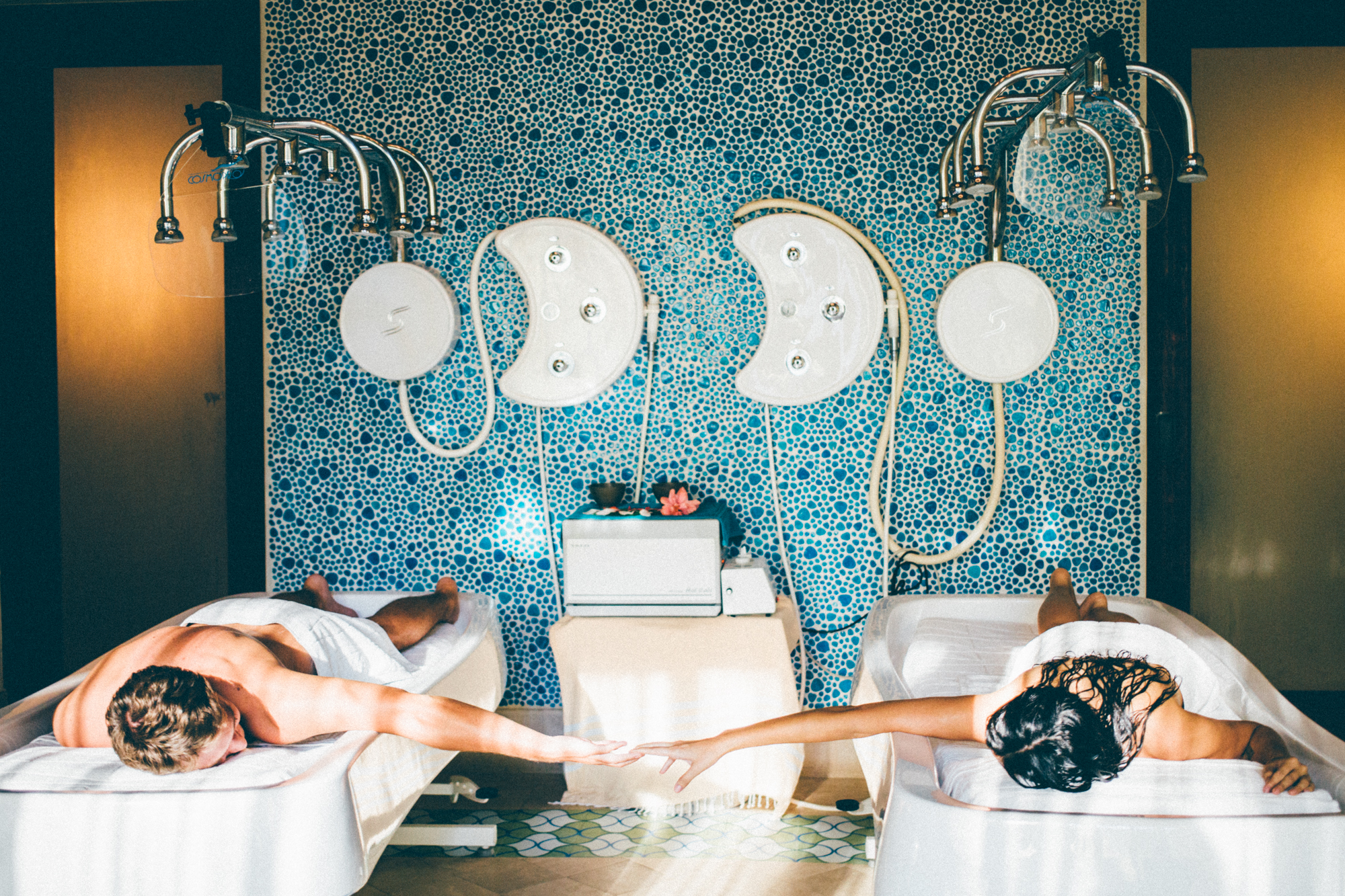 Our Vichy shower experience in the Rainforest Temple