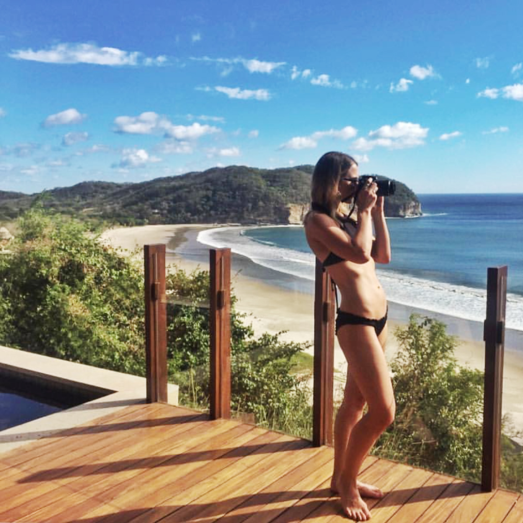Julia capturing picture perfect views from her Bohio