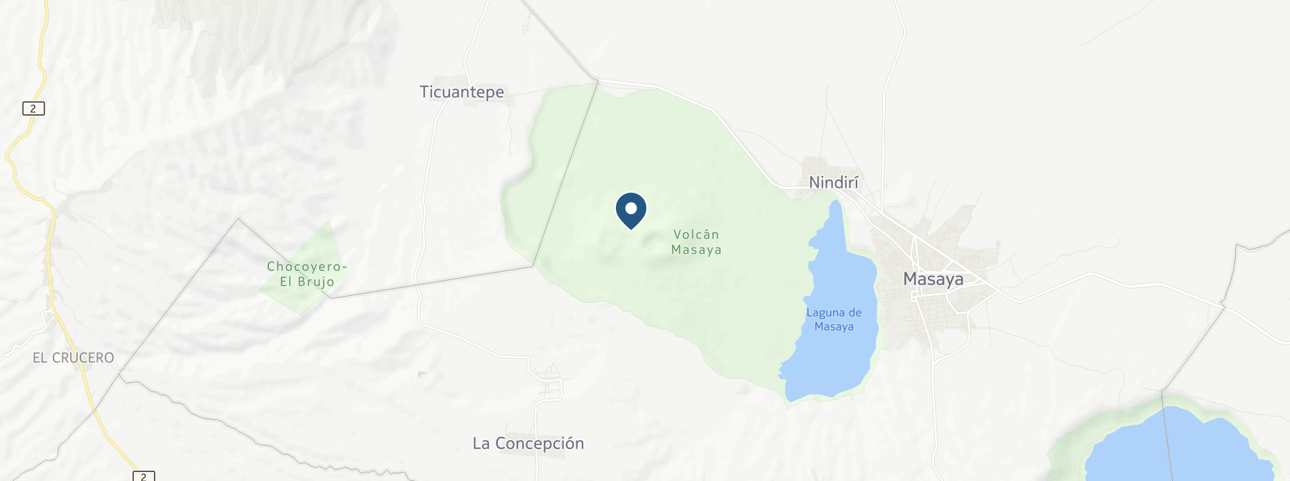 Volcan Masaya Map
