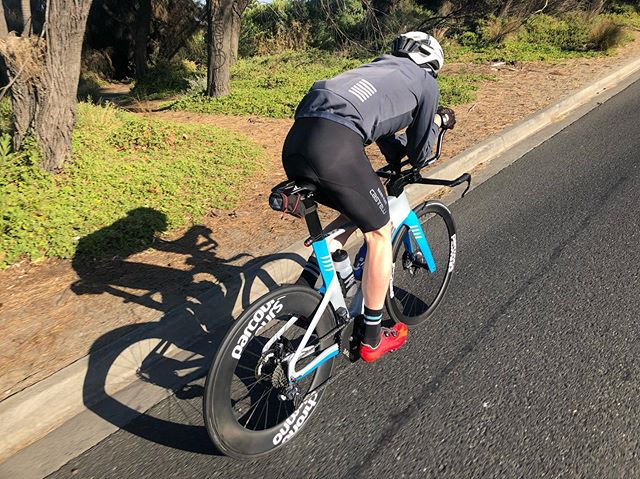 A few clicks on the @parleecycles TTiR and @rideparcours this week, making the most of some great, albeit cold, Melbourne weather. 📸 @mitch.kibby  #myparlee #rideparcours #triathlon #cycling #ironman #tri365 #training