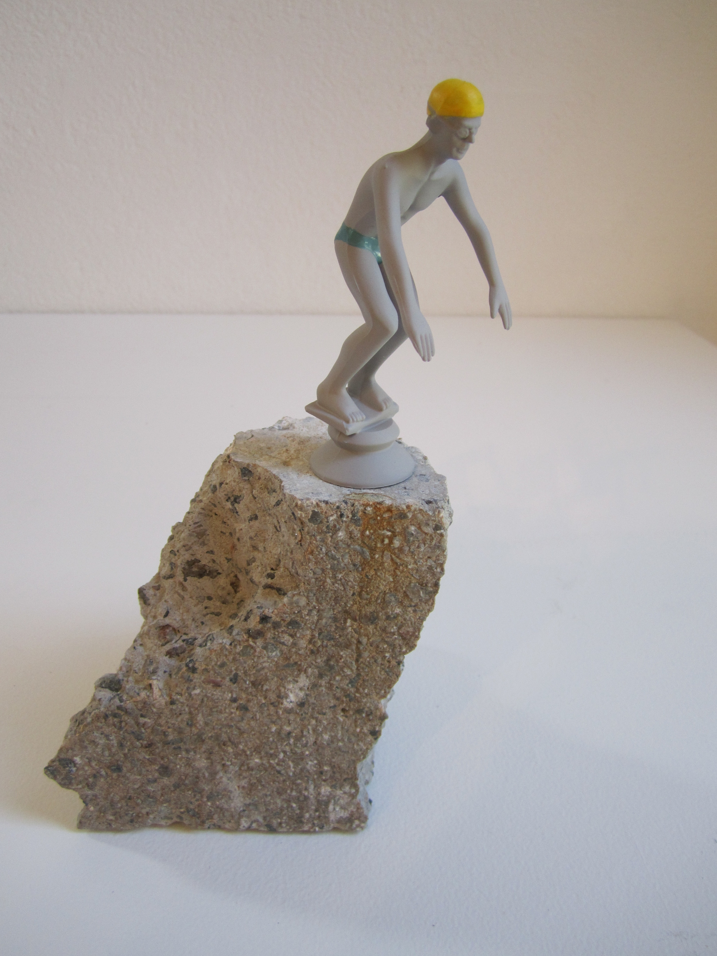 Dive ,2011    Enamel on acrylic, concrete 25 x 18 x 15 cm