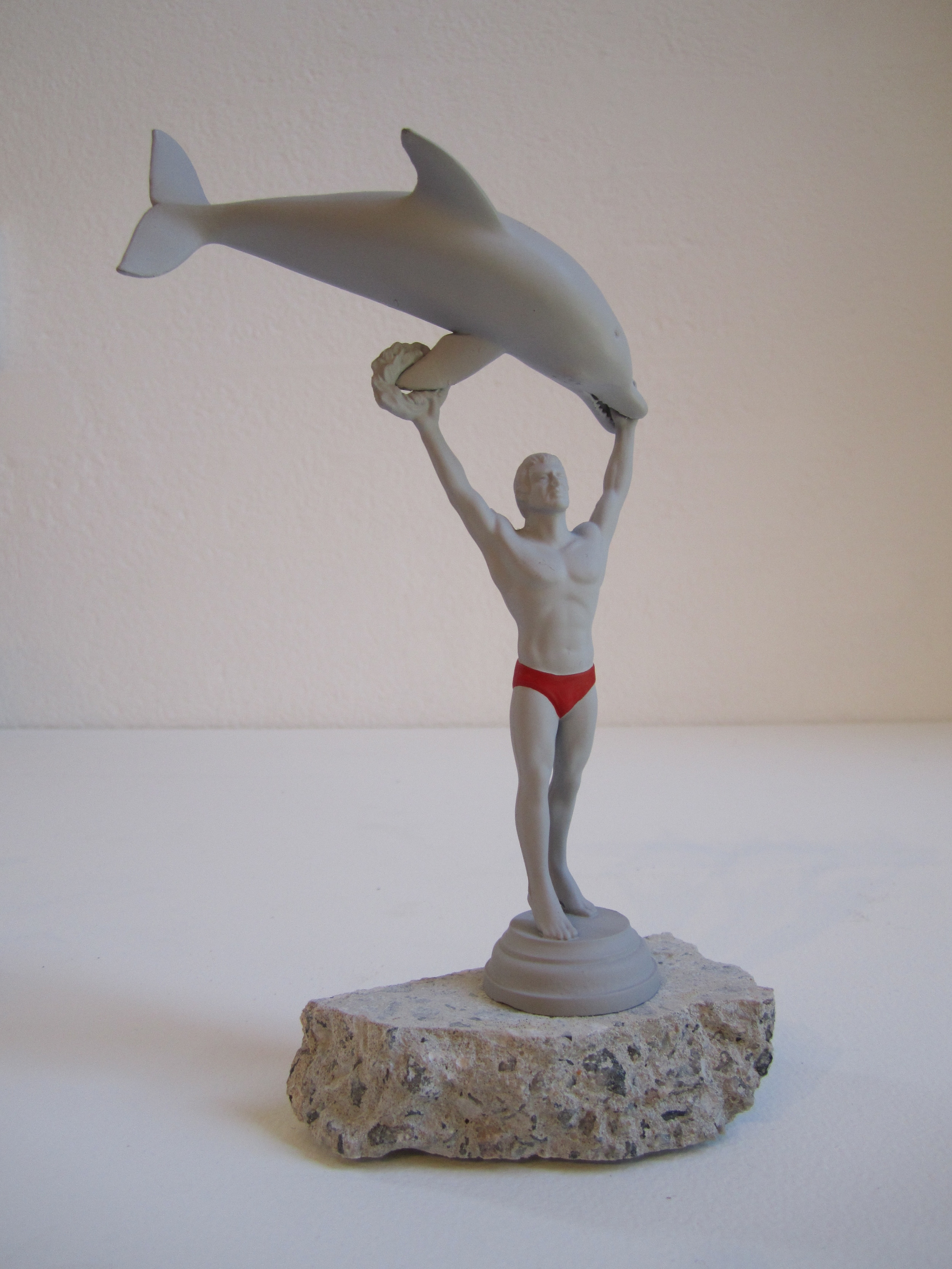 Dolphin Trick, 2011    Enamel on acrylic, concrete 20 x 15 x 6 cm