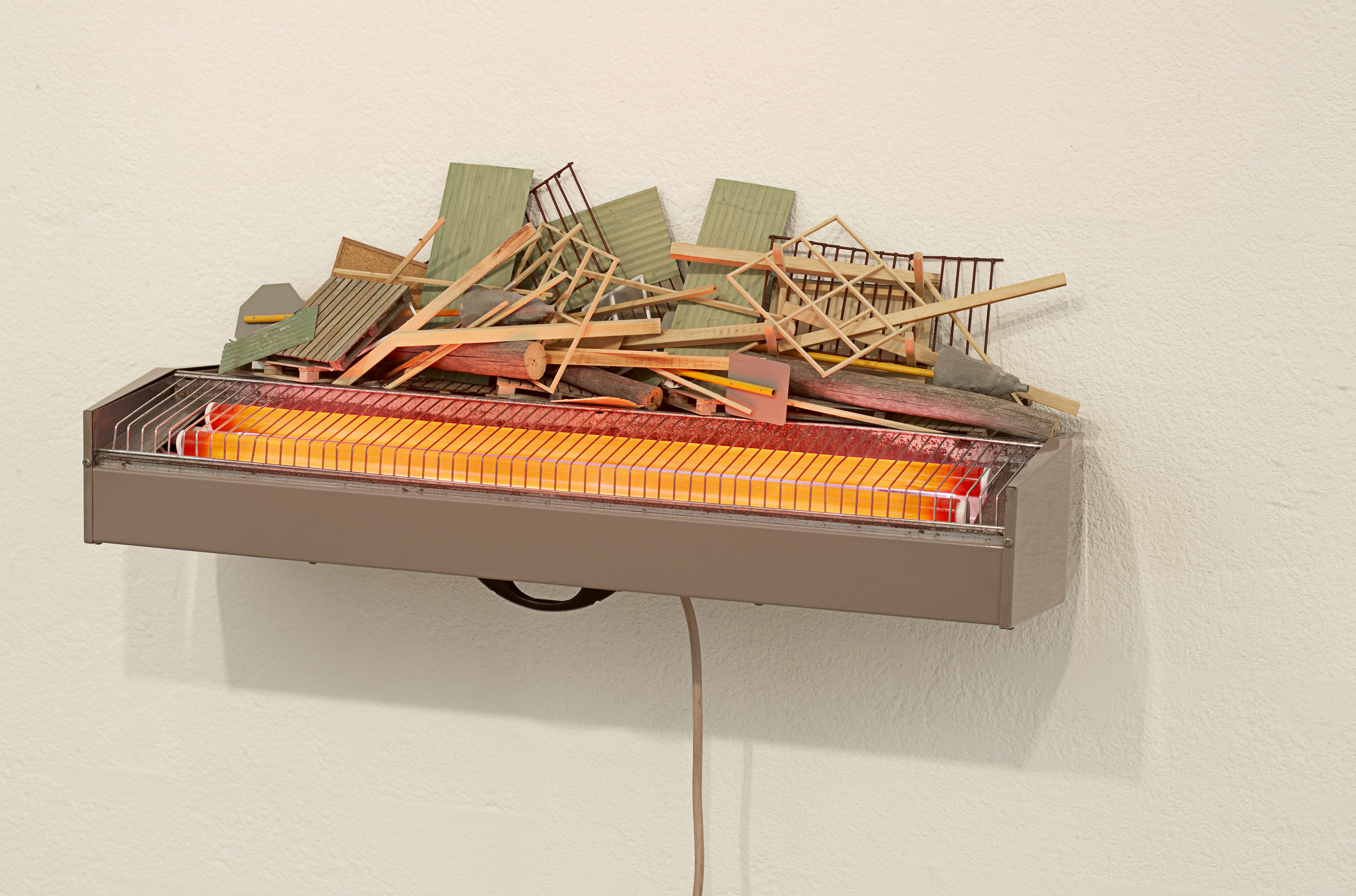 Barricade, 2008 Mixed Media. Dimensions Variable 30 x 70 x 26 cm as exhibited