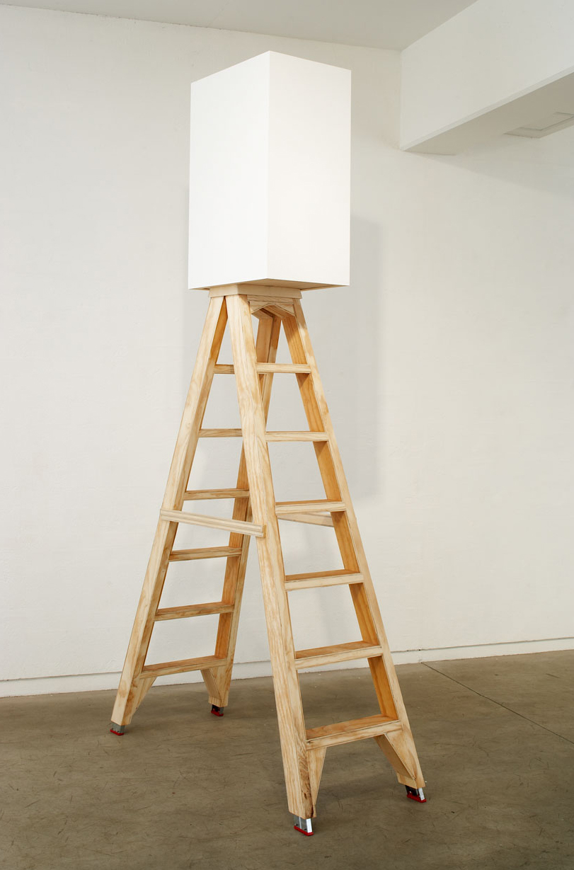 BRUCE LADDER, 2007   Acrylic paint on plywood, ladder   300 x 156 x 43 cm