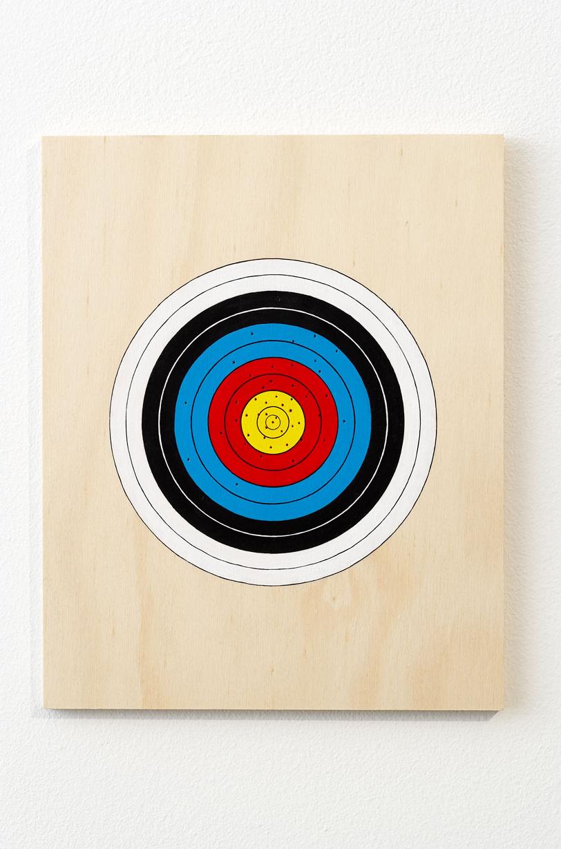 384 POINTS, 2007   Acrylic on plywood   49 x 24 x 1 cm
