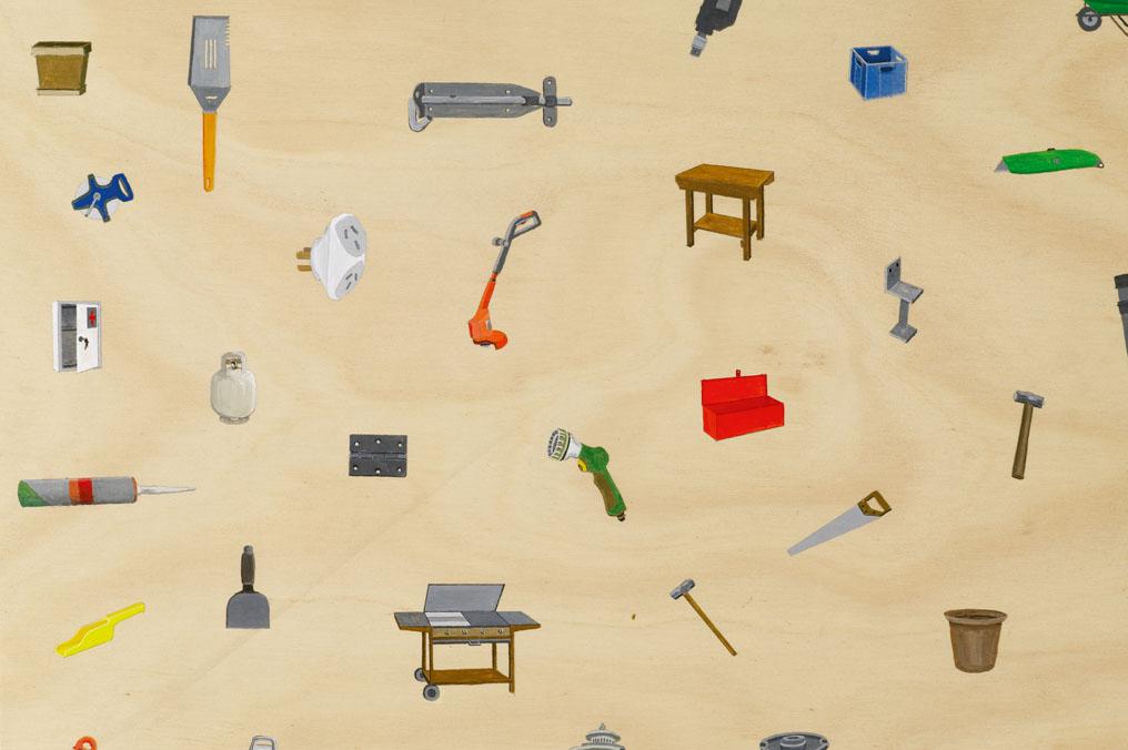 Some Stuff, 2006 Acrylic on Plywood 120 x 140 cm