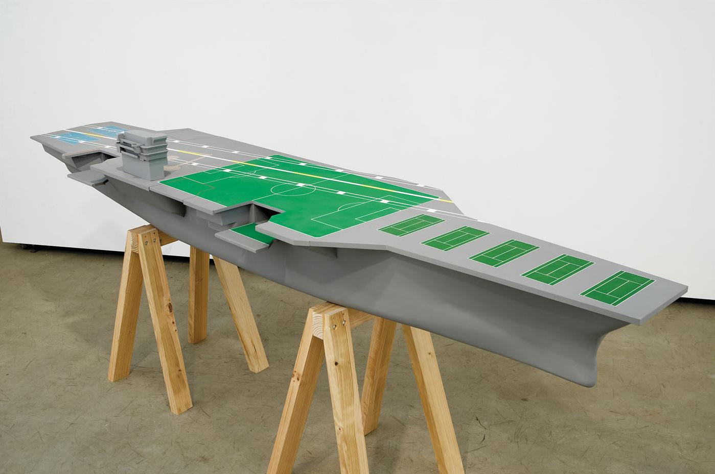 GAMESMANSHIP Enamel on Plywood, Pine 140 x 340 x 78.5 cm