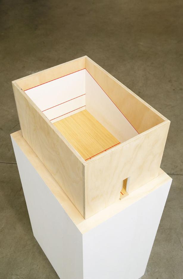 TELLTALE Acrylic & Enamel on Plywood, Wood, Steel 120 x 42.5 x 59.5 cm