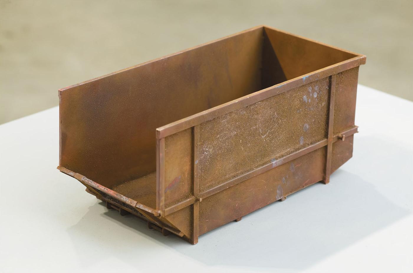 BROWN SKIP Enamel on Steel, Brass & Plywood 113.5 x 66 x 54 cm