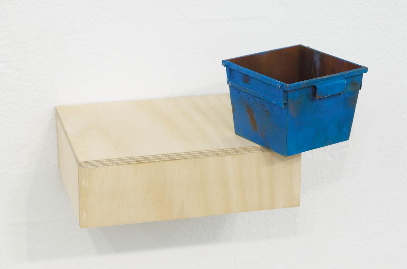22. EDGE Enamel on Steel & Brass, Plywood,Magnet 18 x 33 x 27 cm