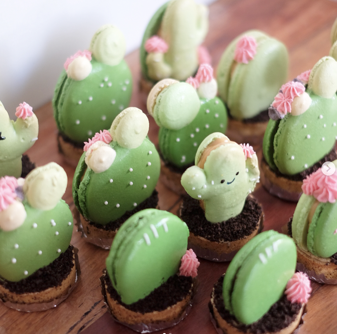 🌵Cactus Macarons🏜   Macaron and a tart in one!
