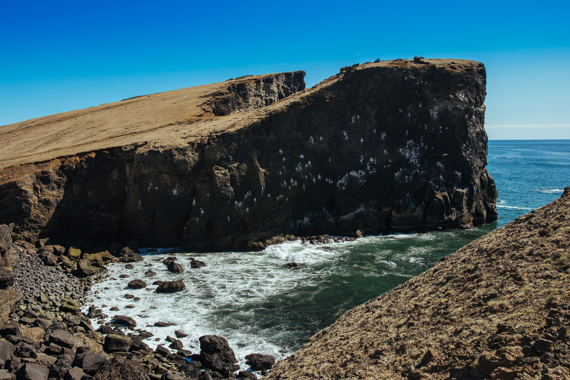 Cliffs at the western end of   Reykjanes peninsula.
