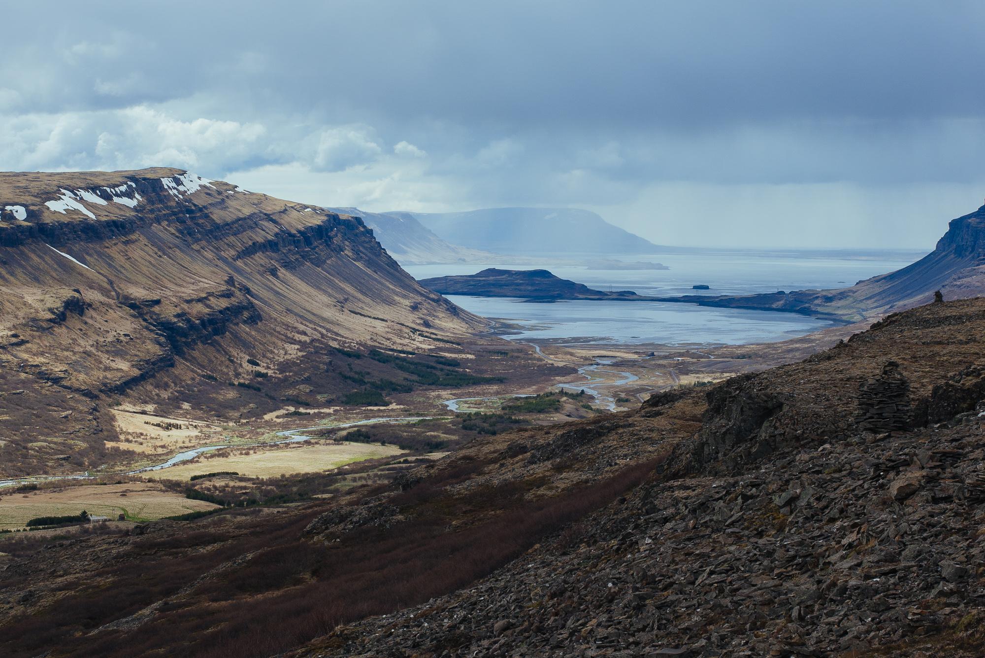 Looking back over  Hvalfjörður.