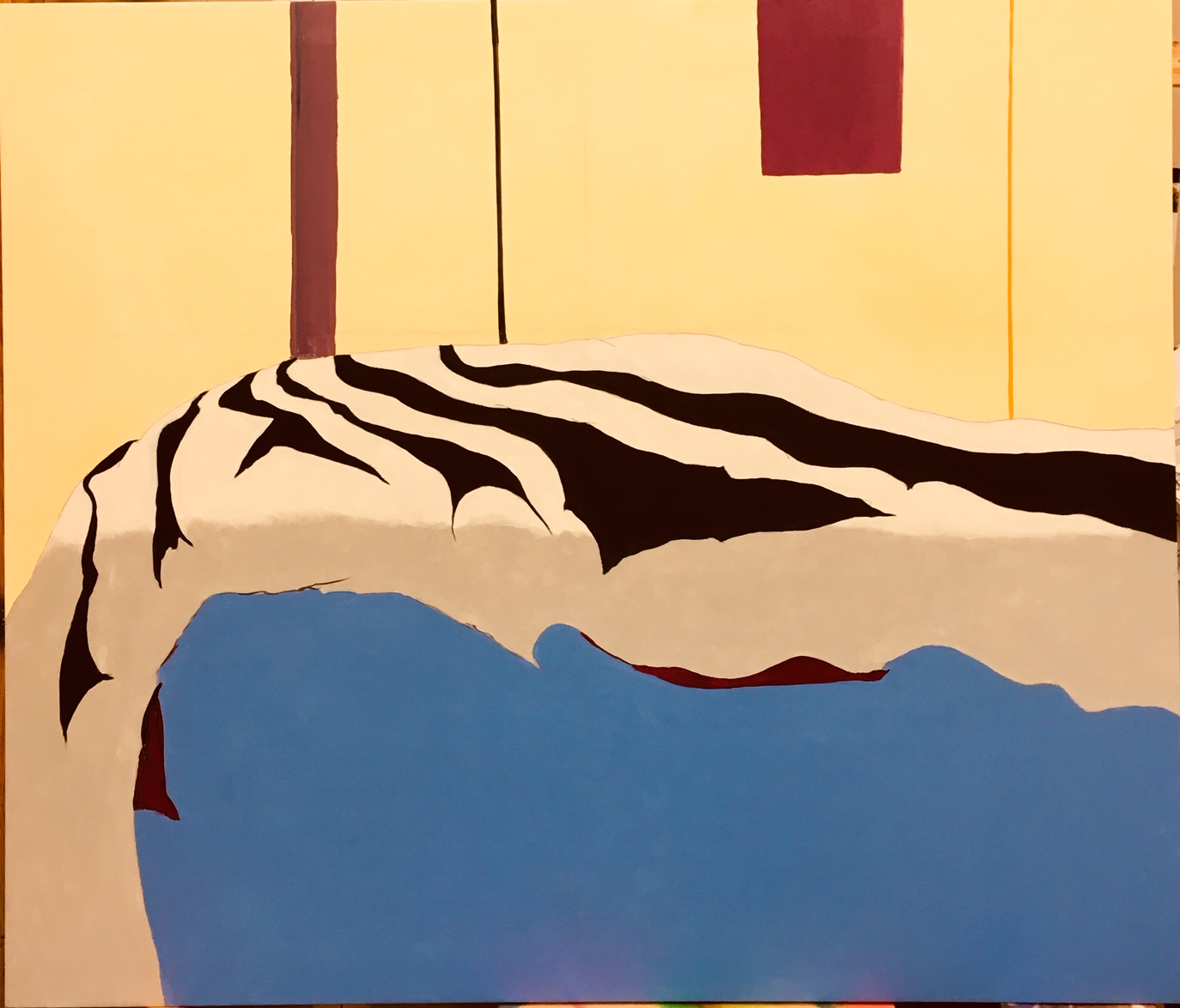 rumpled 58x68 Oil/Canvas