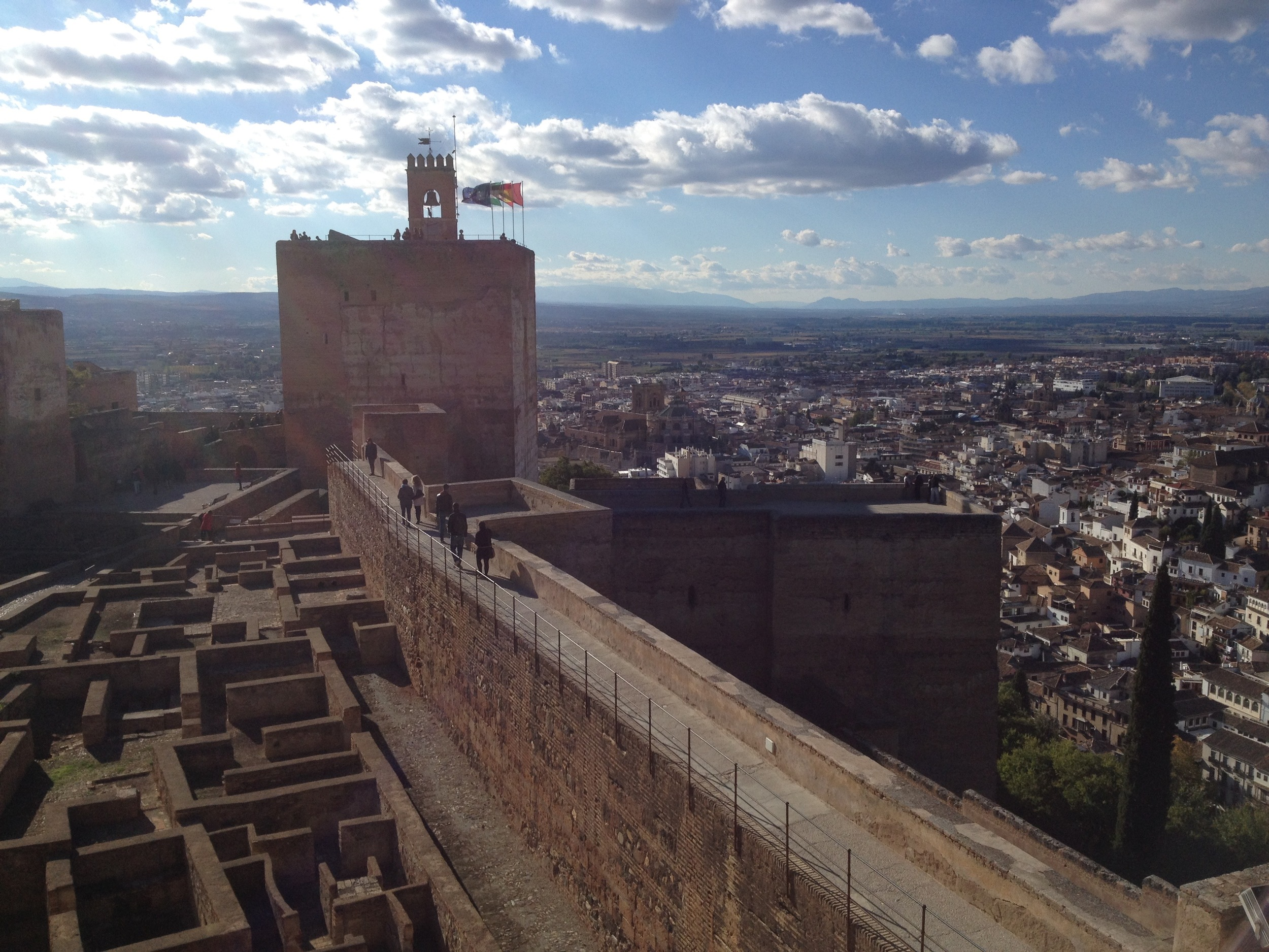 View from the top of the Alcázar of the Alhambra.