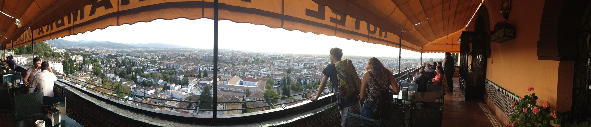 The panoramic view of Granada from the Hotel Alhambra.