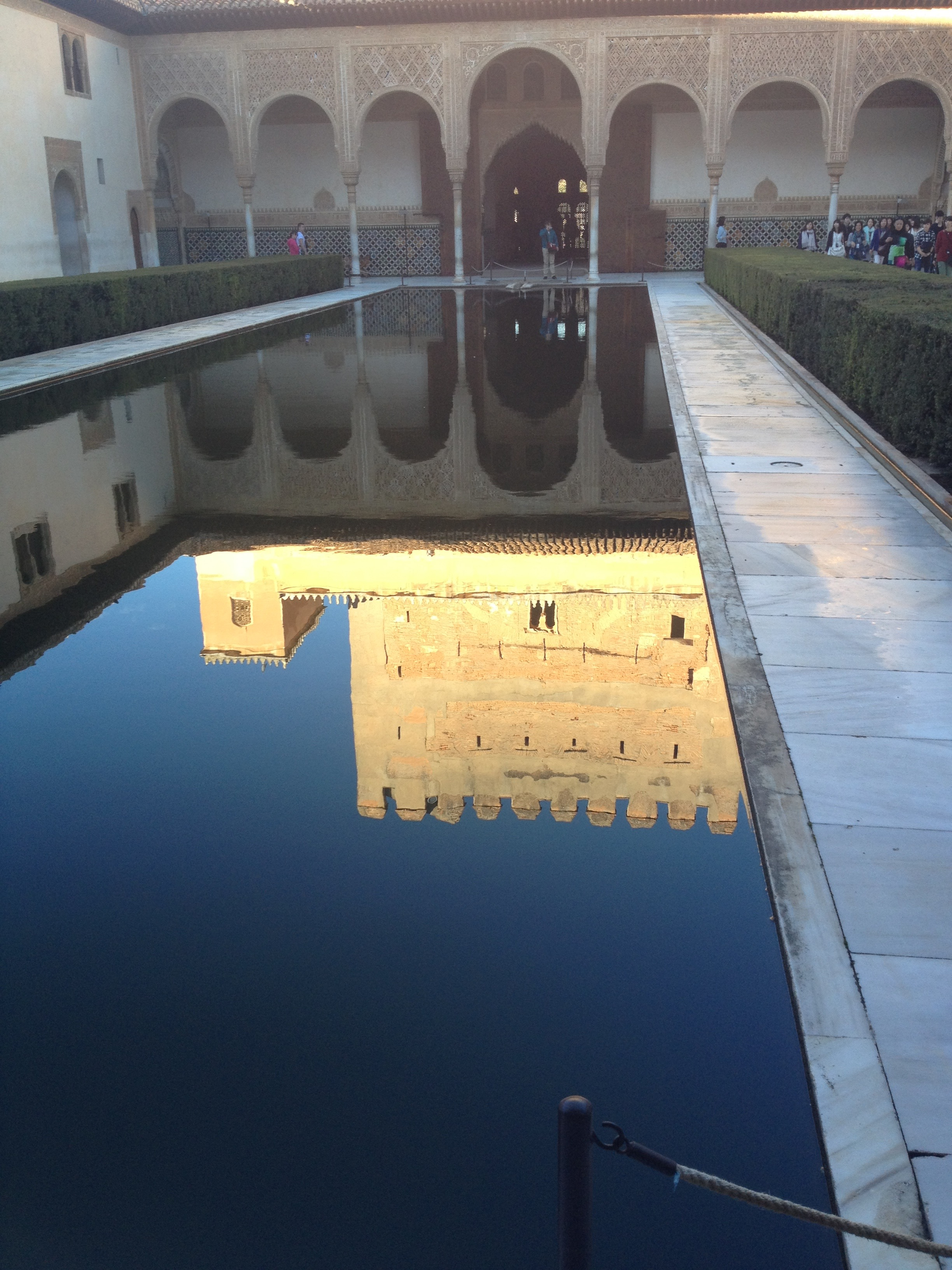 Reflections in the pools of the Alhambra.