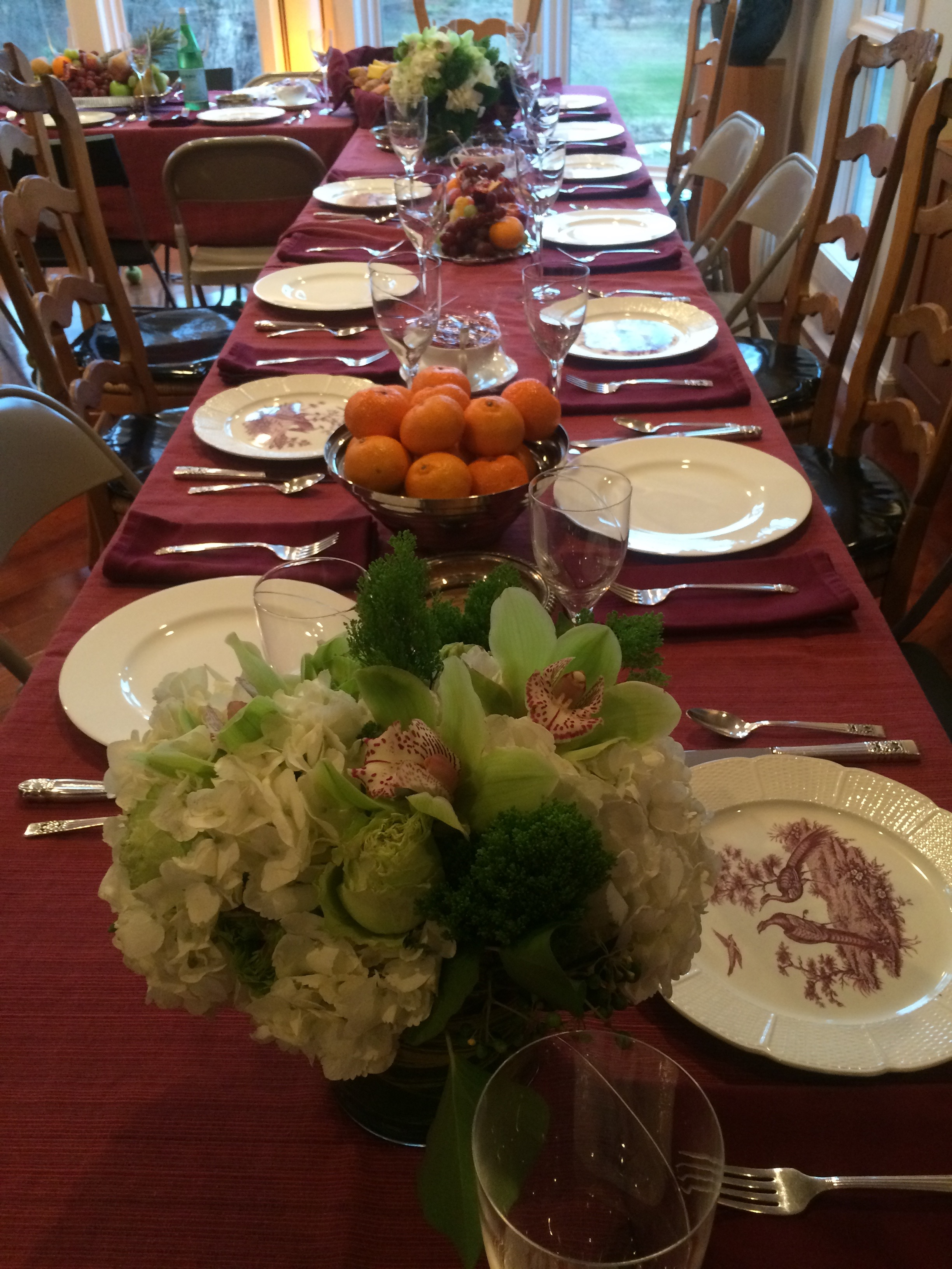 My mother's beautiful Thanksgiving table.