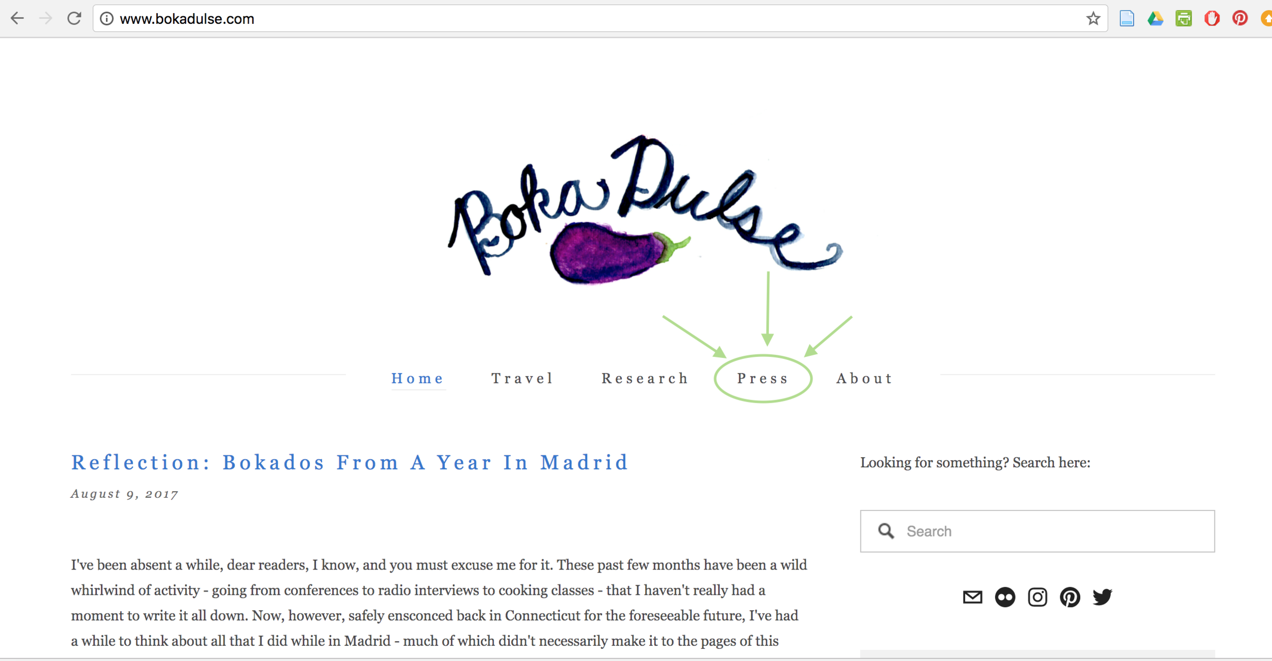 Now you can easily see all the places where Sara is spreading the Boka Dulse love!