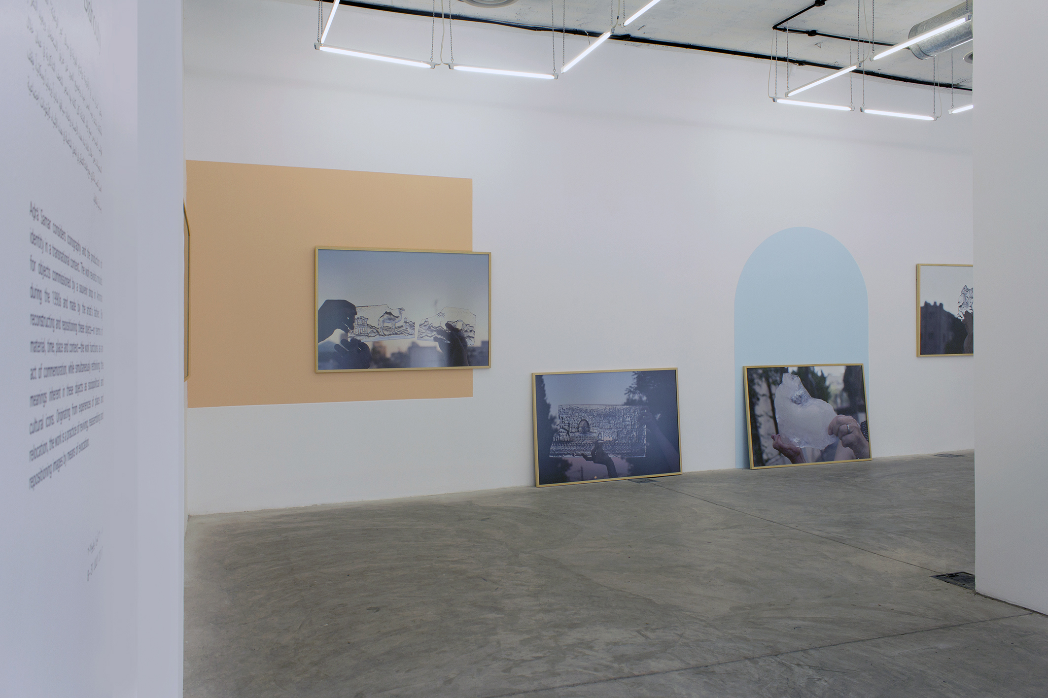 Aḏrāʾ Samar,  installation view at The Lab, Darat Al Funun / Courtesy of Darat al Funun - The Khalid Shoman Foundation.