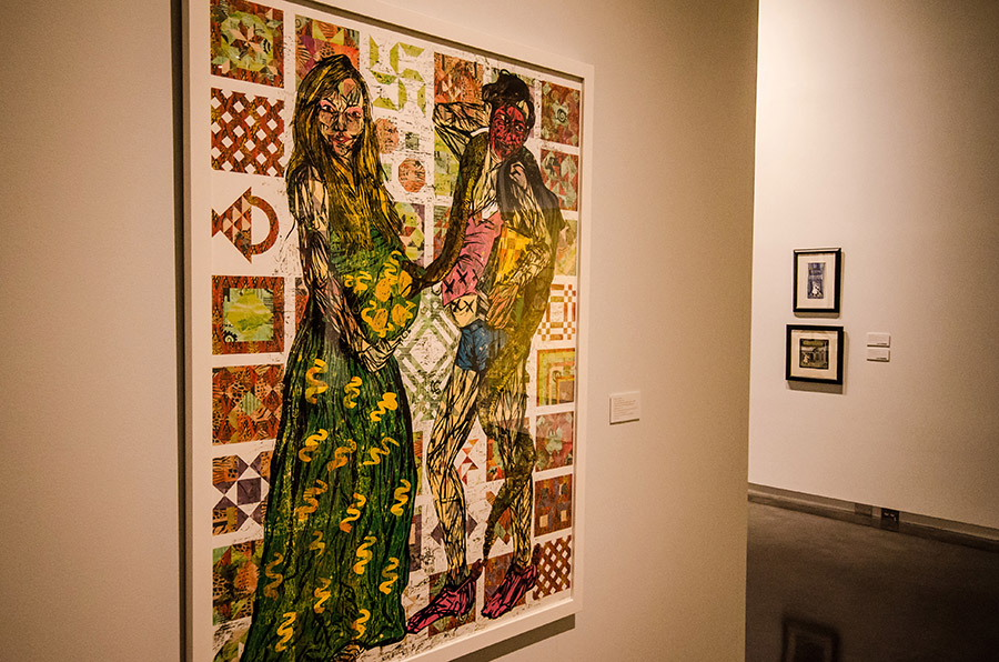 Katrina Andry (b. New Orleans, LA), The Unfit Mommy and Her Spawn Will Wreck Your Comfortable Suburban Existence , 2010,digital media and color woodcut reduction on coventry linen rag, ed. 7/7,Courtesy of Jonathan Ferrara Gallery,L2015.26