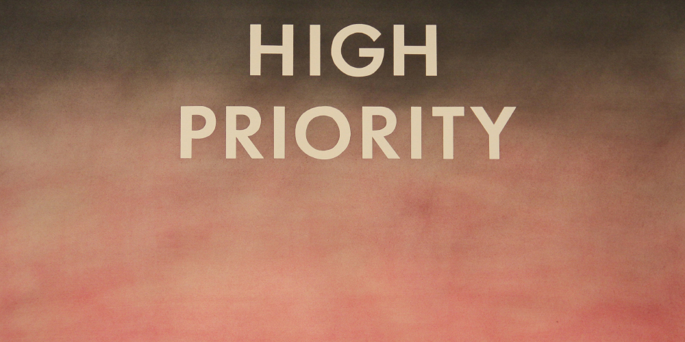 Edward Ruscha (American, b. 1937),  High Priority  (detail), 1975, pastel on paper, museum purchase funded by Frederick Stimpson and the National Endowment for the Arts, Art Museum of South Texas.