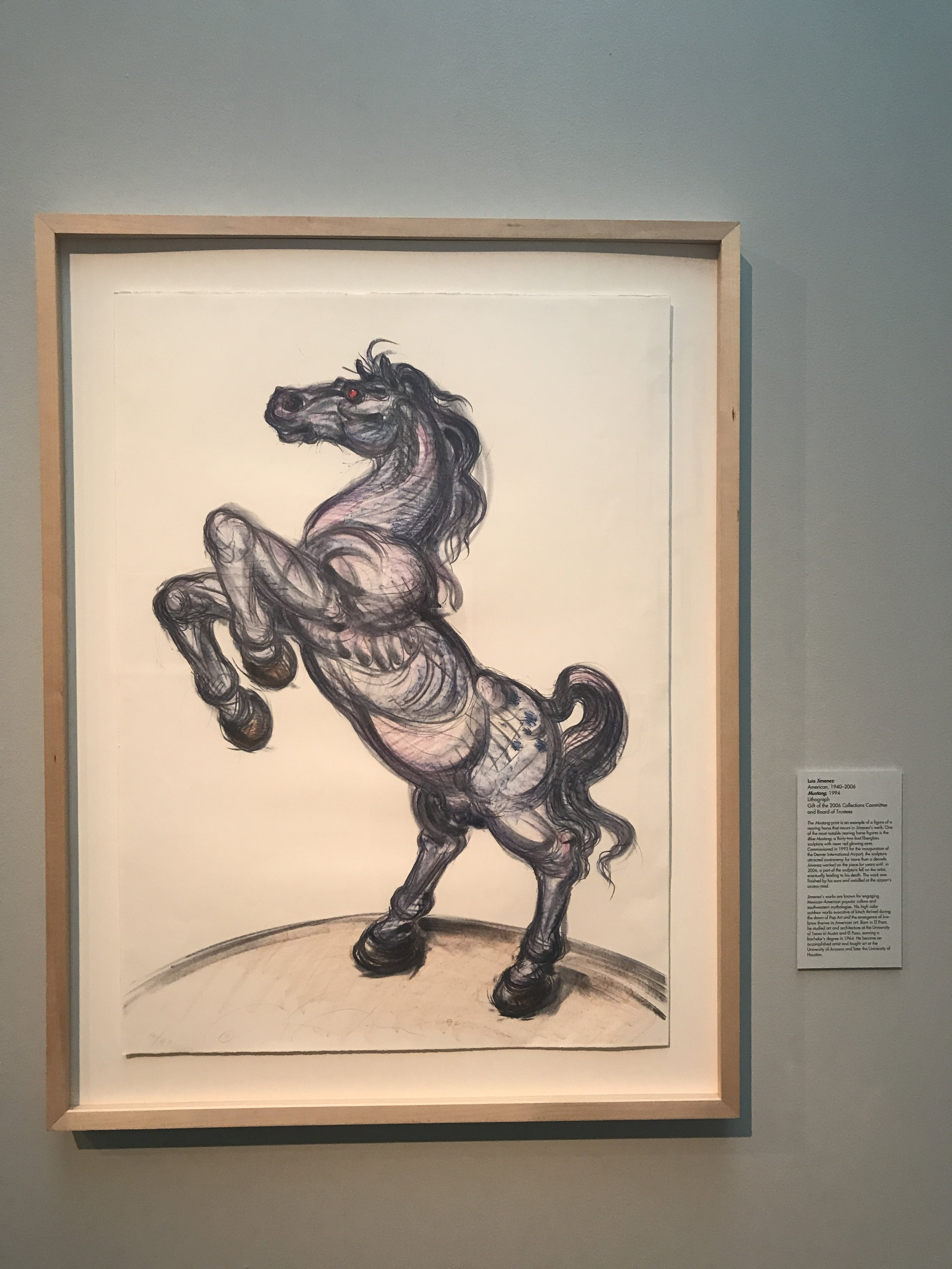 Luis Jimenez (American, 1940–2006),  Mustang , 1994, Lithograph, Gift of the 2006 Collections Committee and Board of Trustees.