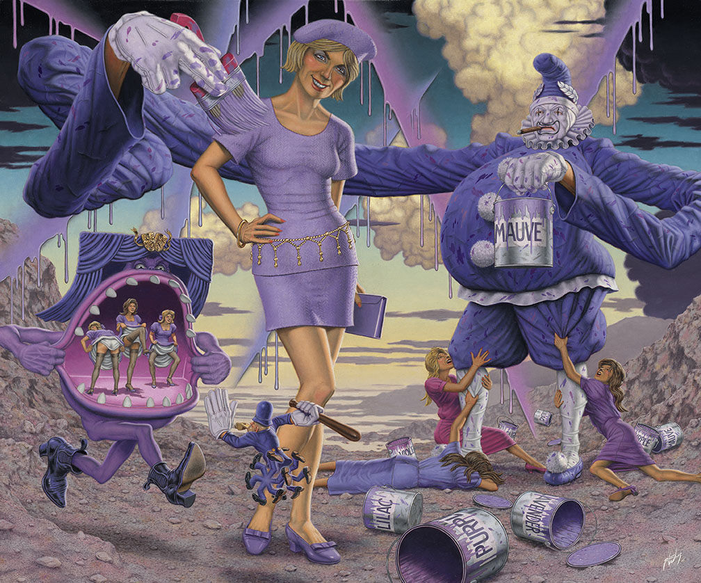 Robert Williams (American, b. 1943),  Purple as an Inexplicable Poetic Force , 2015, oil on canvas, courtesy of the artist