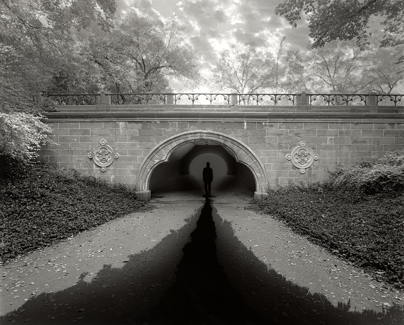Jerry Uelsmann (American, born 1934),  Now , 2013, gelatin silver print,On loan from the University  Gallery, University of Florida, and the artist