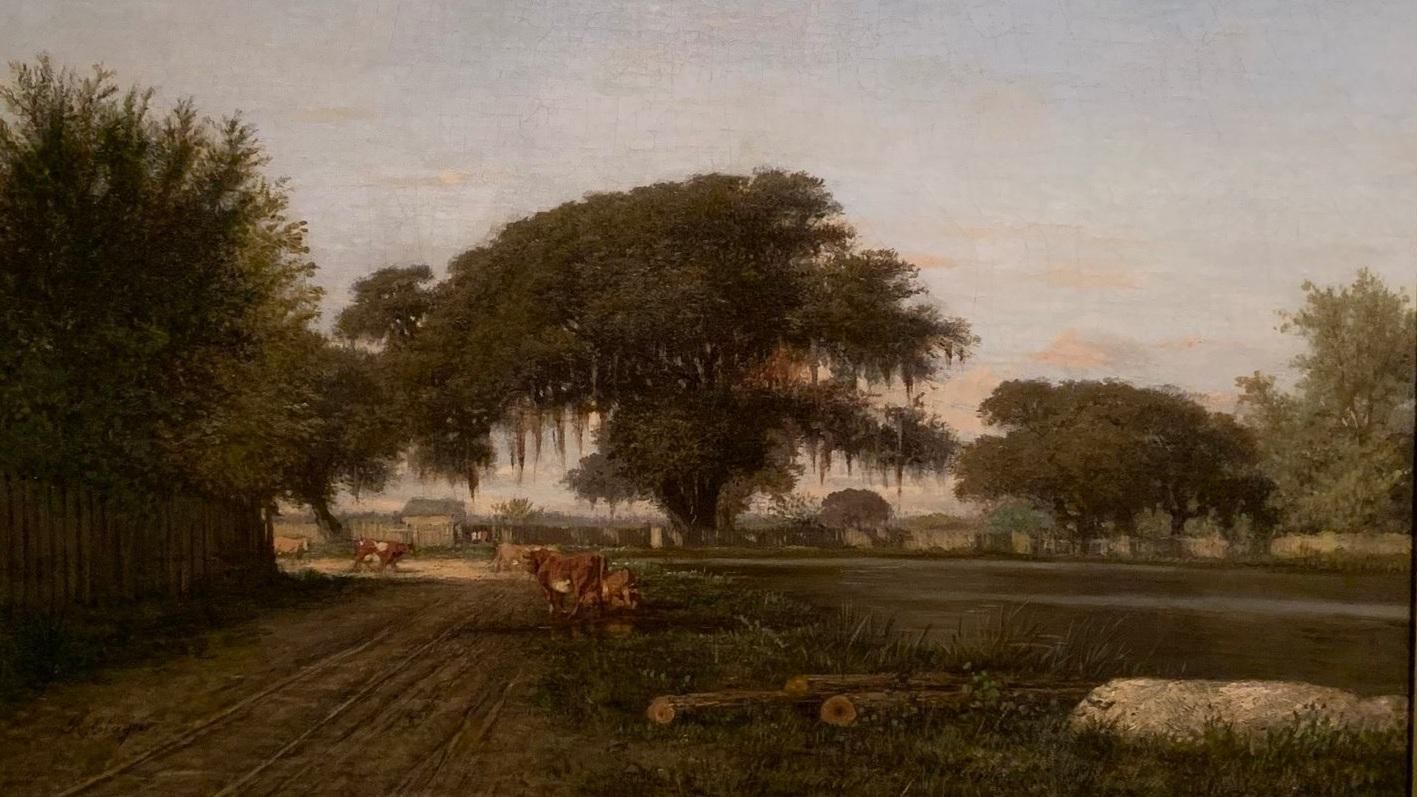 Louisiana Plantation Scene
