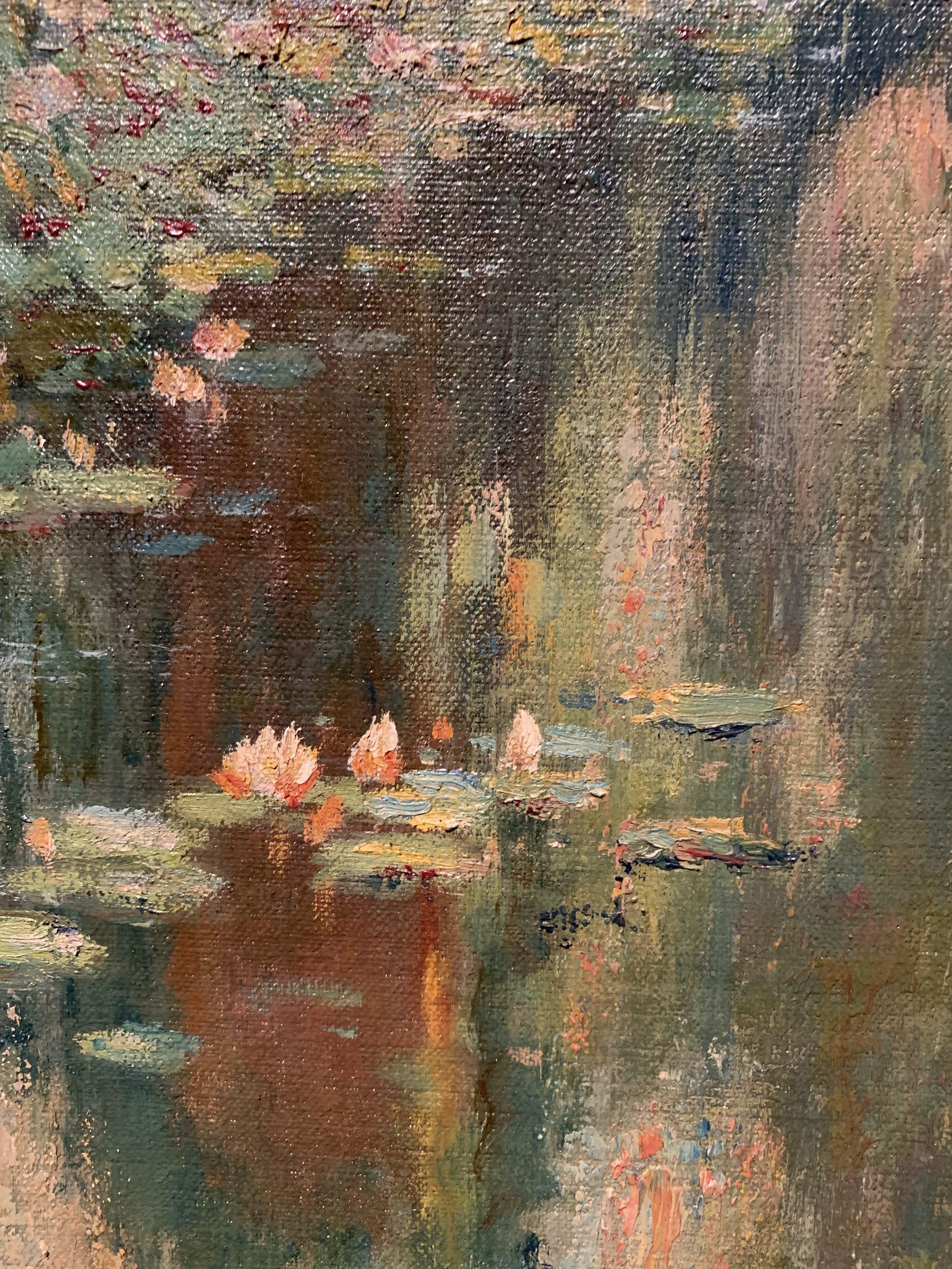 The Lotus Pool, El Encanto, Santa Barbara (detail)