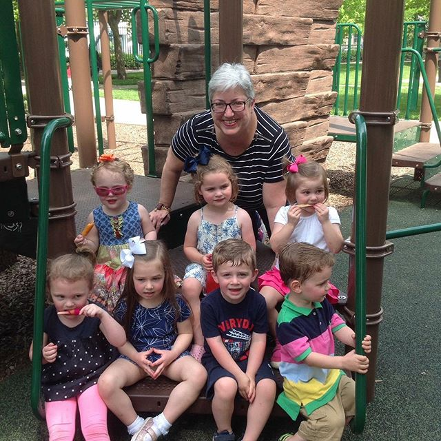End of year picnic for Mrs Tracy's turning three class. Popsicles to kick off summer!