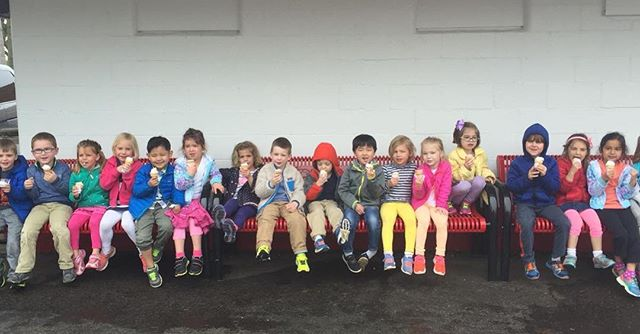 Library and dairy bar field trip for the 4 year old class!!! #bestschoolever