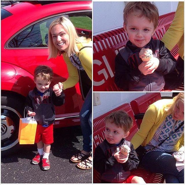 Winner winner - hunter's beetle car ride!  @jillianagriffin