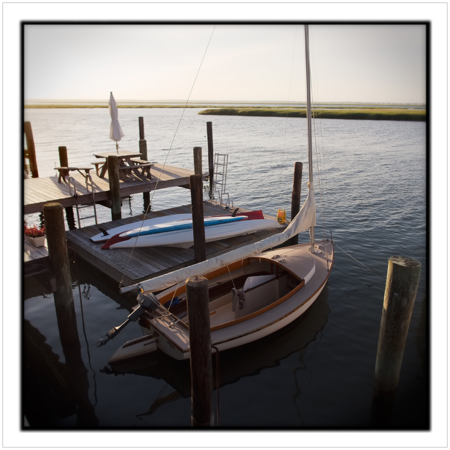 sunset with sailboat   ~ Stone Harbor, NJ