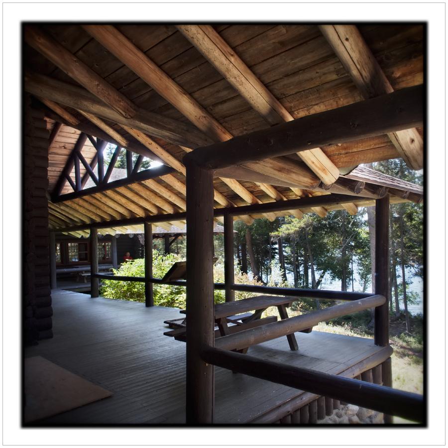 deck / porch at Santanoni Great Camp   ~Newcomb, NY - in the Adirondack PARK