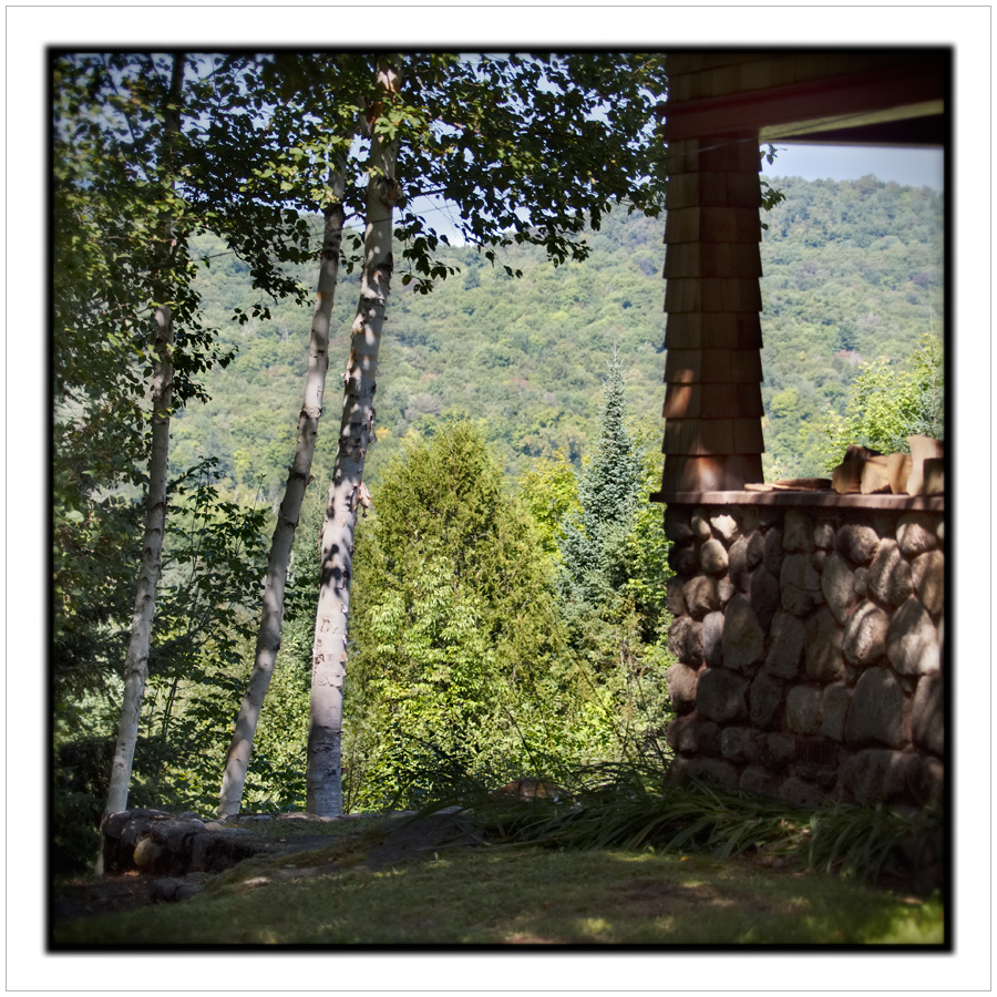 Rist Camp porch   ~ Newcomb, NY - in the Adirondack PARK