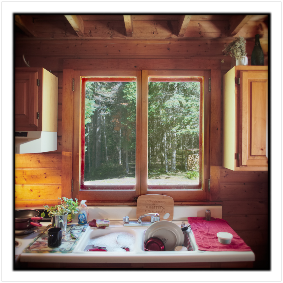 kitchen window / Rist Camp   ~ Newcomb, NY - in the Adirondack PARK