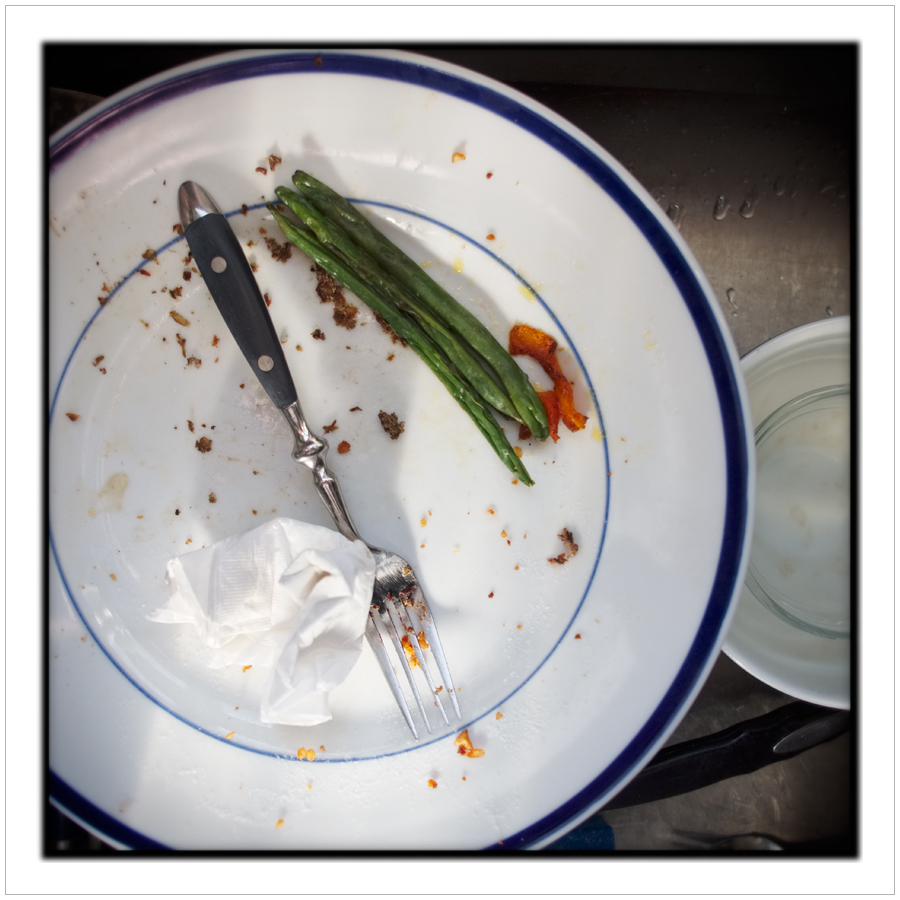 green beans, fork, napkin ~ Au Sable Forks, NY - in the Adirondack PARK (click to embiggen)