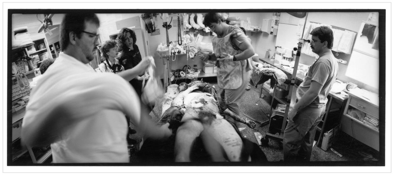 journalism / death in the ER   ~ from hardbound photo book, A Day in the Life of an Urban Hospital