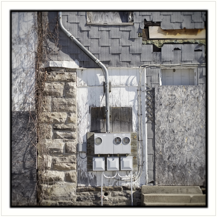 meter boxes   ~ Fort Covington, NY (embiggenable)