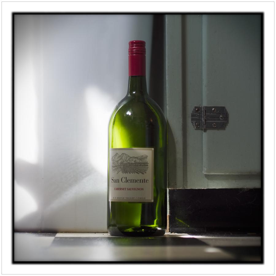 AM light on empty wine bottle   ~ Au Sable Forks, NY - ItAP (embiggenable)