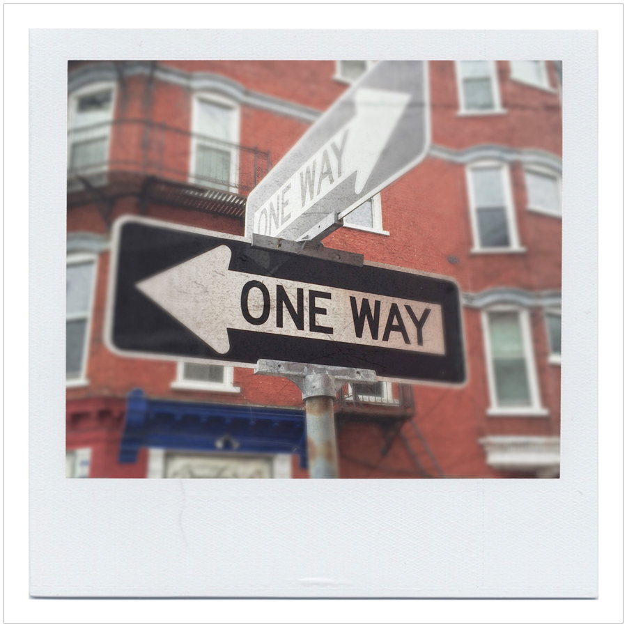 only one way to go   ~ Plattsburgh, NY (embiggenable)
