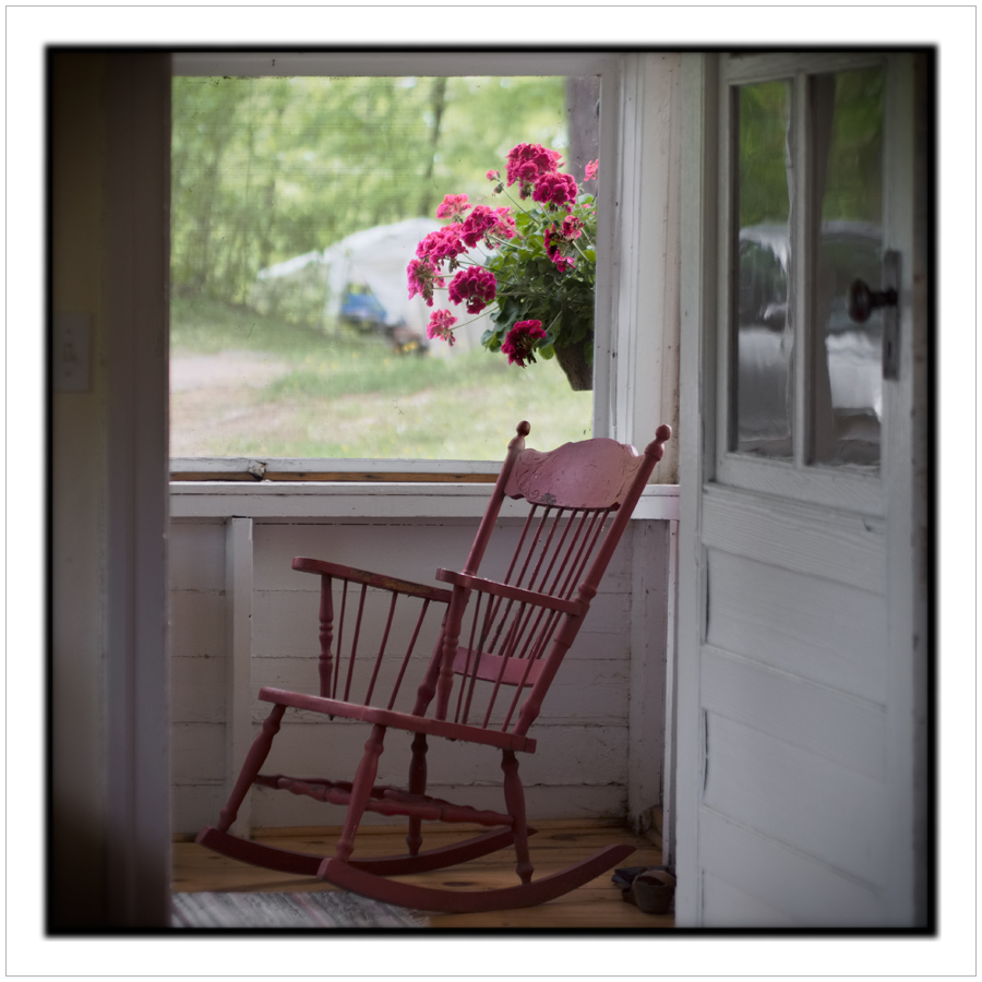 rocker on the cottage porch  ~ Chaffey's Lock, ONT CA (embiggenable)