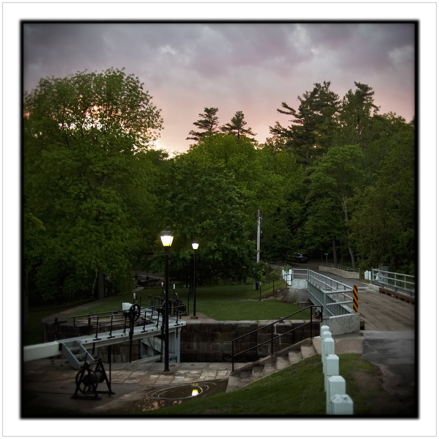sunset at the lock   ~ Chaffey's Lock, ONT CA (embiggenable)