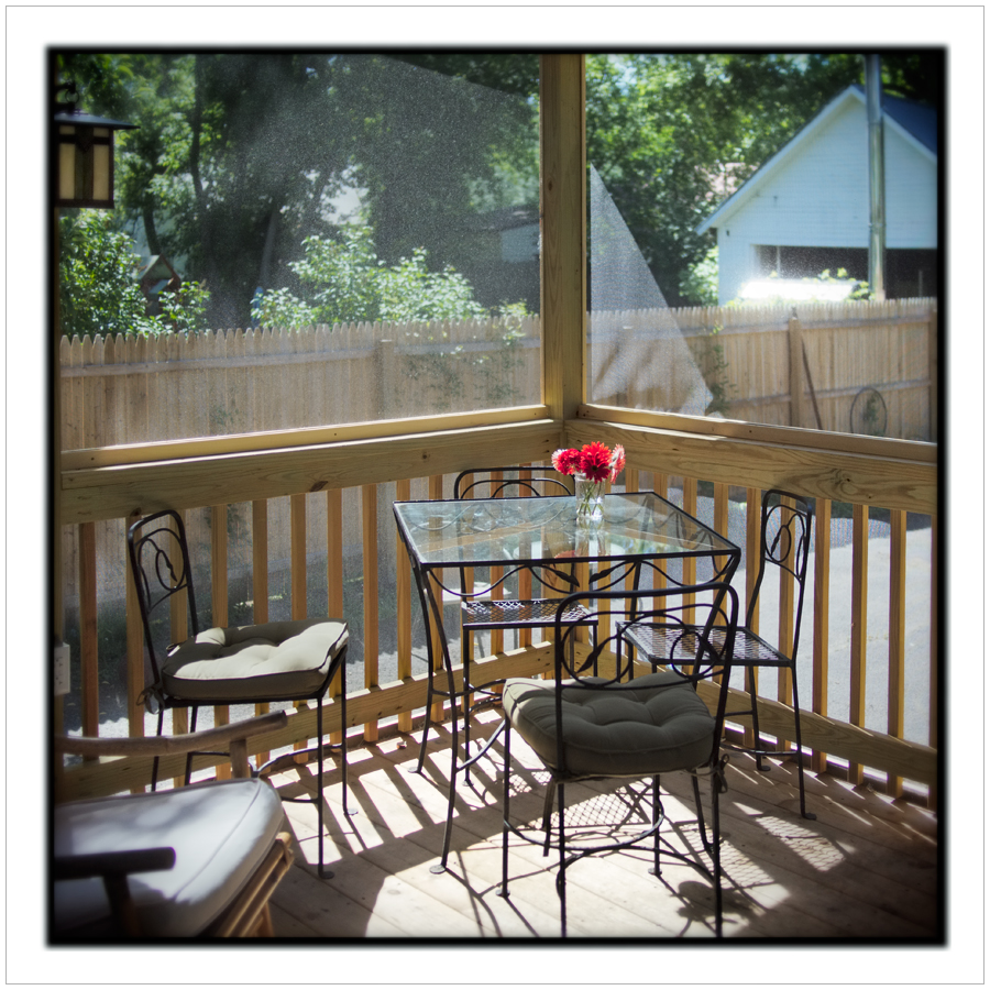 back porch mid-AM light   ~ Au Sable forks, NY - in the Adirondack PARK (embiggenable)