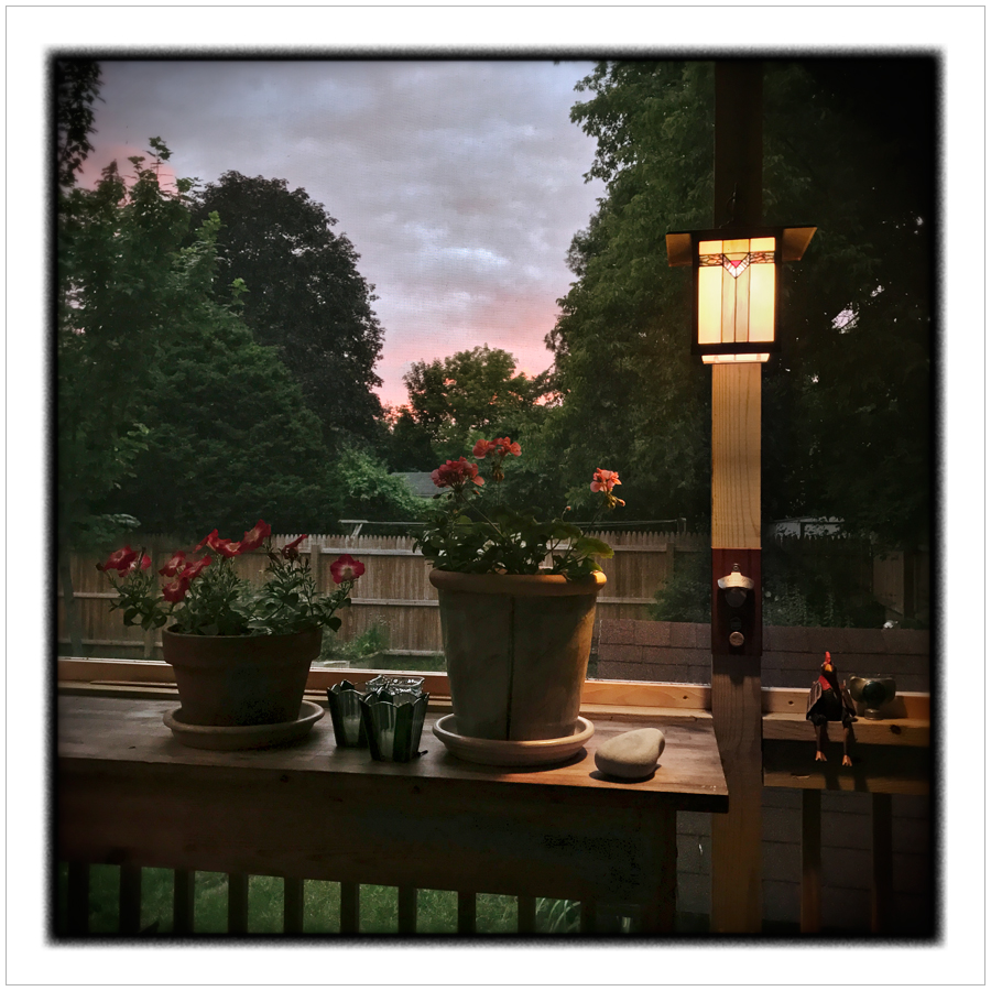 sunset   /   back porch   ~ Au Sable Forks, NY - in the Adirondack Park (embiggenable)