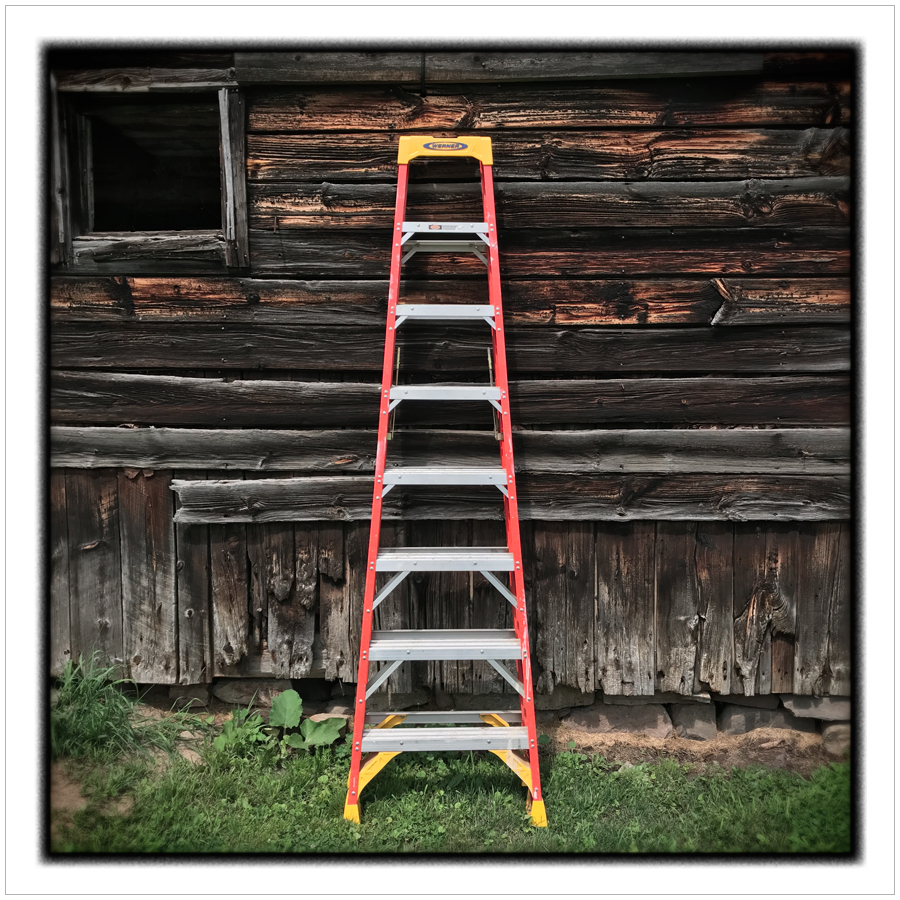ladder and barn   ~ Jay, NY - Adirondack PARK (embiggenable)