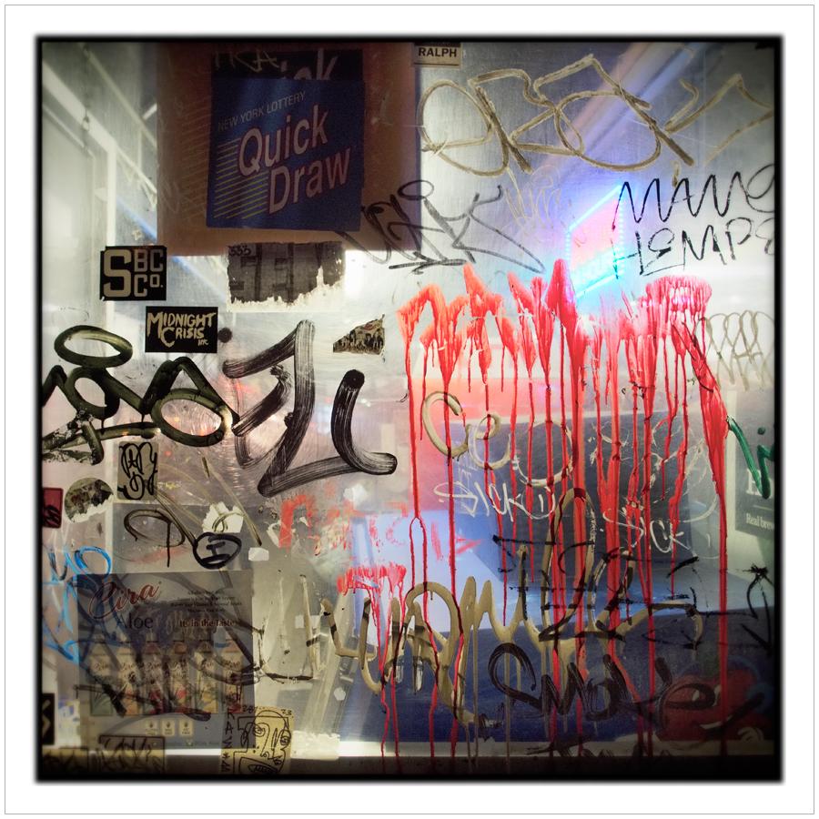 window graffiti   ~ East Village / NYC (embiggenable) • µ4/3